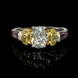 2.42ct GIA Certified Oval Cut Diamond Platinum and 18k Two Tone Gold Engagement Ring