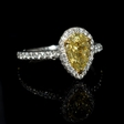 1.75ct GIA Certified Diamond Platinum and 18K Yellow Gold Engagement Ring