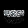 1.27ct Simon G Diamond 18k White Gold Wedding Band Ring