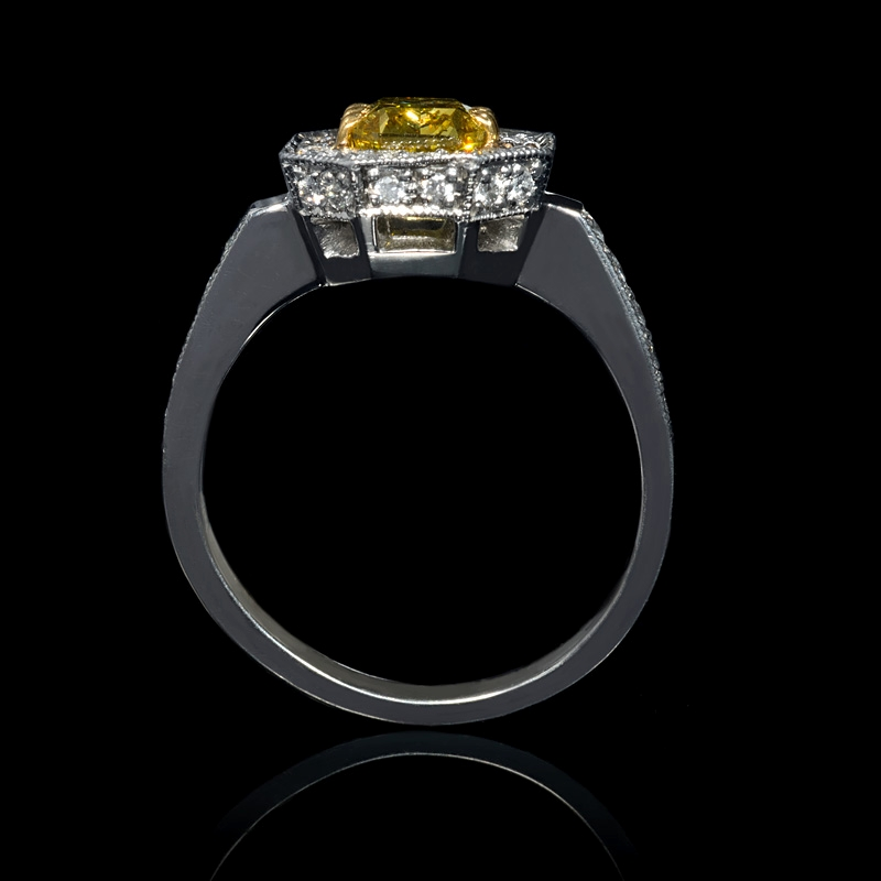 1 32ct certified platinum and 18k yellow gold