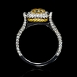2.11ct GIA Certified Diamond Platinum and 18K Yellow Gold Engagement Ring