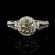 1.72ct GIA Certified Diamond  18K White and Yellow Gold Engagement Ring