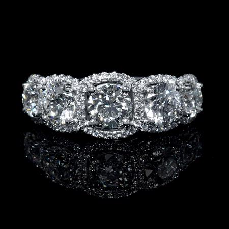 Simon G Diamond 18k White Gold Wedding Ring