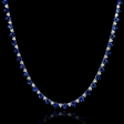 1.52ct Diamond and Blue Sapphire 18k White Gold Necklace