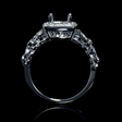 .42ct Simon G Diamond Antique Style 18k White Gold Engagement Ring Setting