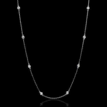 Diamond Chain 18k White Gold Necklace