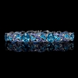 .25ct Diamond, Sapphire, Tanzanite and Blue Topaz 18k White Gold Bracelet