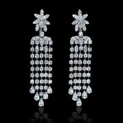 Diamond chandelier earrings diamond district jewelers diamond 18k white gold chandelier earrings aloadofball Images