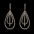 1.84ct Diamond 18k Two Tone Gold Dangle Earrings