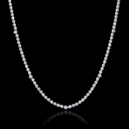 6.02ct Diamond 18k White Gold Tennis Necklace