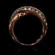 1.05ct LeVian Chocolate Diamond and Black Rhodium 14K Strawberry Gold Ring