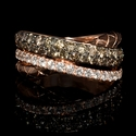 LeVian Chocolate Diamond and Black Rhodium 14K Strawberry Gold Ring