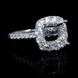 .89ct Diamond 18k White Gold Engagement Ring Setting