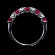.36ct Diamond and Ruby Round Brilliant Cut 18k White Gold Ring