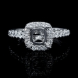 .55ct Diamond 18k White Gold Halo Engagement Ring Setting