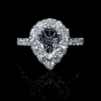 1.20ct Diamond Pear Shaped 18k White Gold Engagement Ring Setting