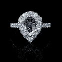 Diamond Pear Shaped 18k White Gold Engagement Ring Setting