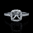 .43ct Diamond 18k White Gold Halo Engagement Ring Setting
