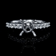 .33ct Diamond 18k White Gold Engagement Ring Setting