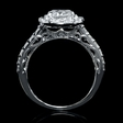 1.05ct Diamond 18k White Gold Engagement Ring Setting