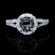 .44ct Diamond 18k White Gold Engagement Ring Setting
