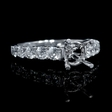.93ct Diamond 18k White Gold Antique Style Engagement Ring Setting