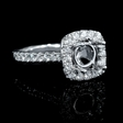 .68ct Diamond 18k White Gold Halo Engagement Ring Setting