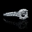 .52ct Diamond 18k White Gold Halo Engagement Ring Setting