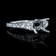 .41ct Diamond 18k White Gold Engagement Ring Setting
