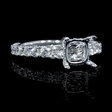 1.00ct Diamond 18k White Gold Engagement Ring Setting
