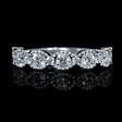 1.01ct Diamond Antique Style 18k White Gold Wedding Band Ring