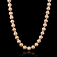 3.60ct Diamond Pink Freshwater Pearl Antique Style 14k Rose Gold Necklace