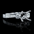 .65ct Diamond 18k White Gold Antique Style Engagement Ring Setting
