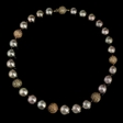 12ct Diamond and Tahitian Pearl Choker 18k Yellow Gold Necklace