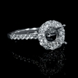 .79ct Diamond 18k White Gold Halo Engagement Ring Setting
