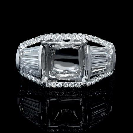 1.77ct Diamond 18k White Gold Engagement Ring Setting