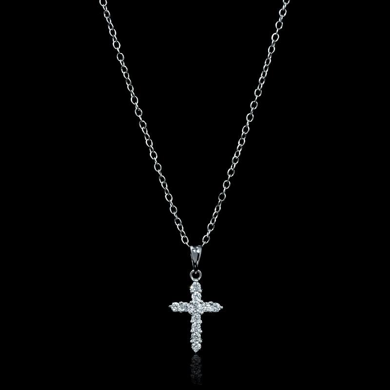 Bhima Jewellery Bands: .33ct Diamond 18k White Gold Cross Pendant