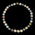 9.00ct Diamond Multi-Colored South Sea Pearl 18k Yellow Gold Necklace