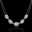 2.68ct Diamond 18k White Gold Necklace