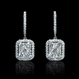 1.77ct Diamond 18k White Gold Dangle Earrings