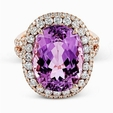 1.49ct Simon G Diamond and Kunzite 18k Rose Gold Ring
