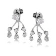 0.67ct Simon G Diamond 18k White Gold Earrings Jackets