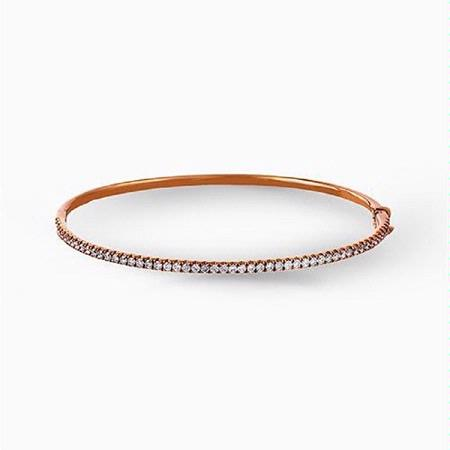 Simon G Diamond  18k Rose Gold Bangle Bracelet