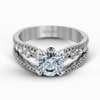 .91ct Simon G Diamond 18k White Gold Engagement Ring Setting