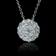 .62ct Diamond 18k White Gold Pendant Necklace