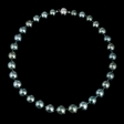 0.12ct Diamond and Tahitian Pearl 18k Yellow Gold Choker Necklace