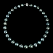 Diamond and Tahitian Pearl 18k White Gold Choker Necklace