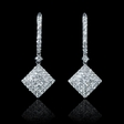 2.26ct Diamond 18k White Gold Dangle Earrings