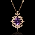 .51ct Diamond and Purple Amethyst 18k Rose Gold Pendant