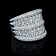 4.01ct Diamond 18k White Gold Ring